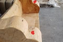 Zedernholz-Sofa-seitlich