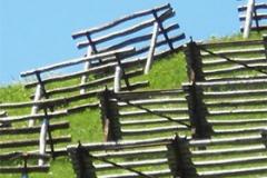Lawinenverbauung im Gebirge
